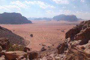 ... et la vue sur le désert depuis tout là-haut !
