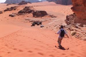 Une dune, c'est plus facile à redescendre qu'à monter !