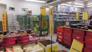 Chambre froide au supermarché