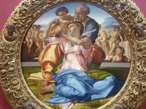 L'un des clous de la galerie: la Sainte Famille, par Michel-Ange…