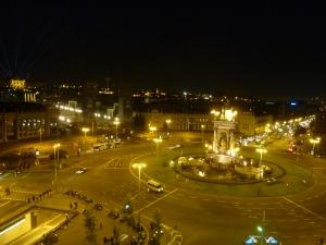Place d'Espagne vue depuis le haut des arènes