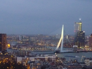 Le pont Erasme by night