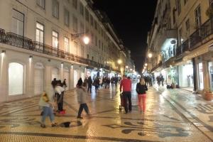 La rue Augusta, artère principale de la Baixa