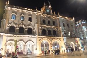 La gare de Rossio, à l'architecture étonnante