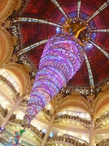 Le sapin original des Galeries Lafayette