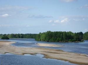 La Loire et ses îles de sable...