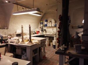 Atelier de sculpture dans l'une des maisons de Bryggen