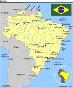 Notre (modeste !) itinéraire au Brésil. Source : www.canalmonde.fr