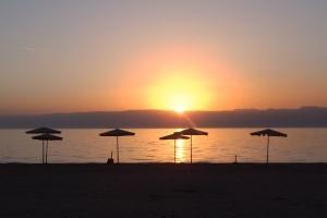 Coucher de soleil sur la mer Rouge