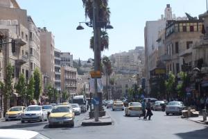 King Faysal Street, la grande artère qui traverse la ville basse d'Amman