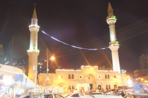 Sur le chemin du retour, mosquée du roi Hussein