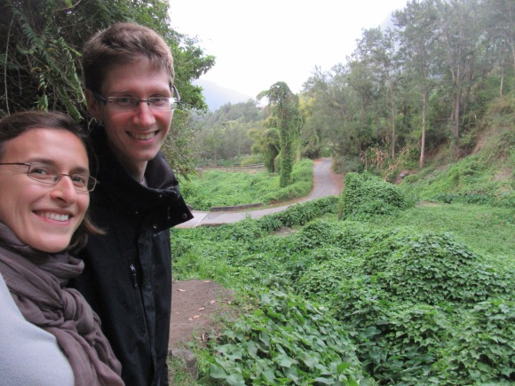 ... et selfie de couple devant les champs de chouchous ;-)