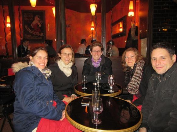 Nous quatre... et notre amie Coralie, prête à partir en Allemagne avec nous :-)