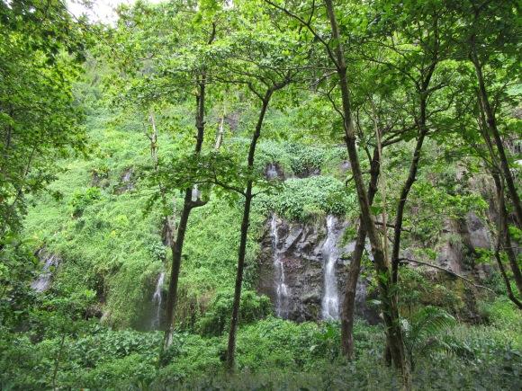 L'anse des Cascades...