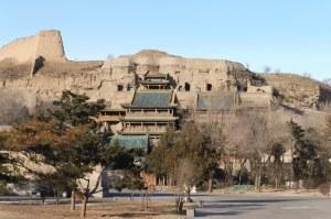 Vue extérieure d'une partie des grottes