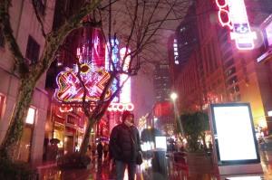 Nanjing Road by night