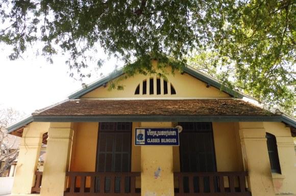 De nombreuses traces du passé colonial du Laos subsistent, ici à Luang Prabang