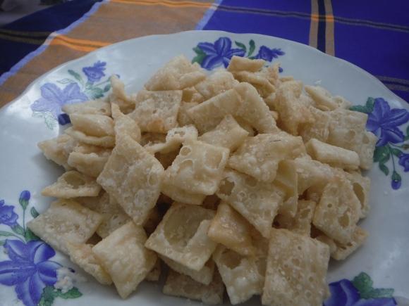 Les fameux biscuits en peau de lait frite