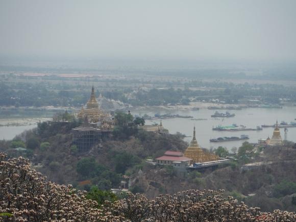 Vue depuis Sagaing Hill