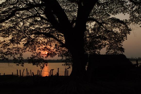 Coucher de soleil à Hpa-An