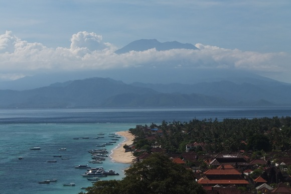 Vue sur le Gunung Agung (Bali) depuis Lembongan