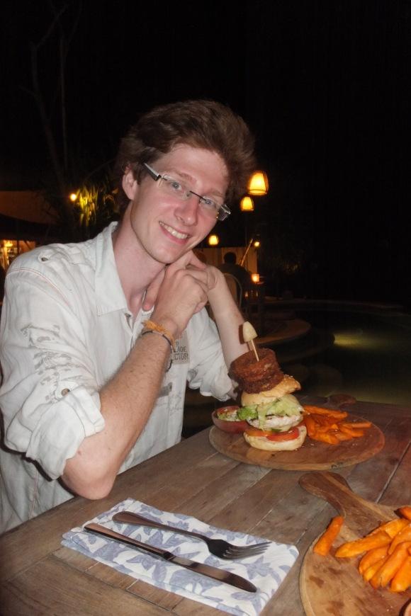 Les onion rings sur le burger, une idée à retenir ;-)