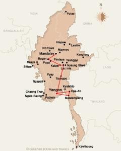 notre itinéraire - Source : http://www.gulliver-myanmar.com/fr/carte-de-birmanie/