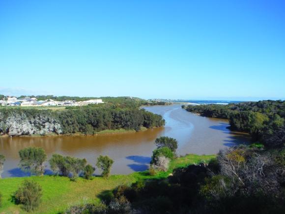 L'Irwin River, qui sépare Dongara et Port Denison