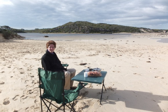 Petit-déjeuner sur la plage de Guilderton