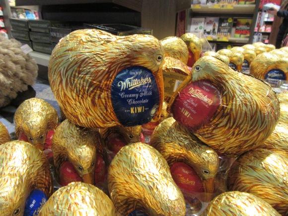 A Auckland, les chocolats sont en forme de kiwis ;-)