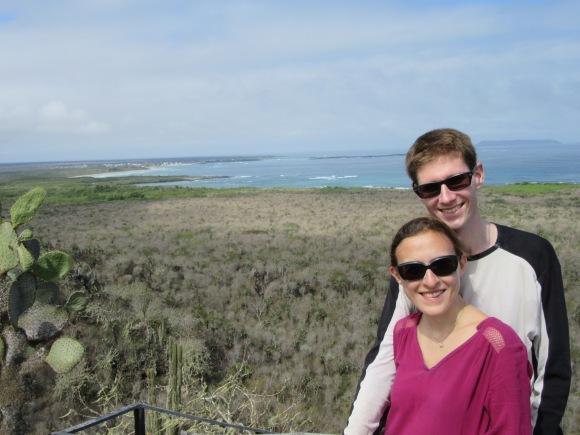 Point de vue sur Puerto Villamil le sud de l'île