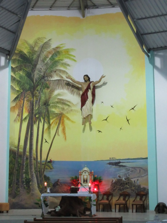 L'église de Puerto Villamil, 100% Galapagos style !