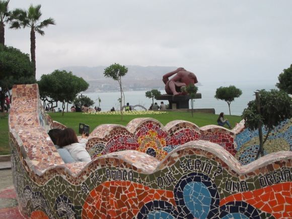 Les belles mosaïques du Parque del Amor