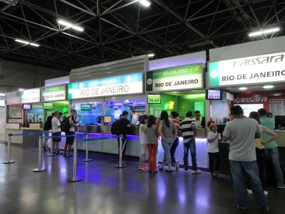 Nous avons l'embarras du choix pour partir à Rio, il y a plein de compagnies et des départs toutes les 20 minutes