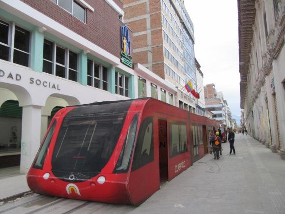 Cerise sur le gâteau, le tram est sur le point d'arriver à Cuenca !
