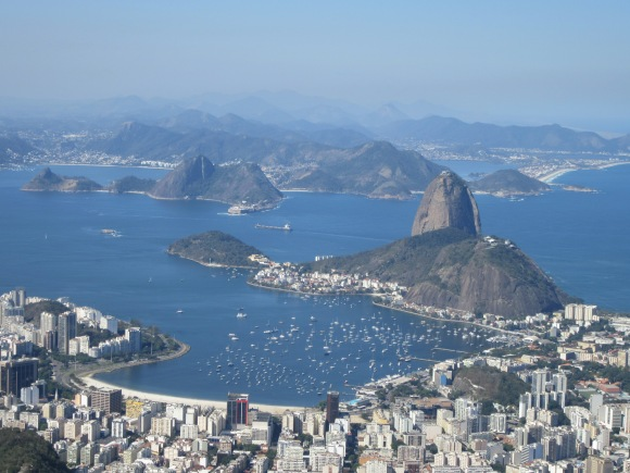 La baie de Rio vue depuis le Christ Rédempteur