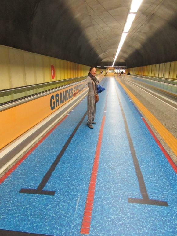 Couloirs de natation dans le métro :-)