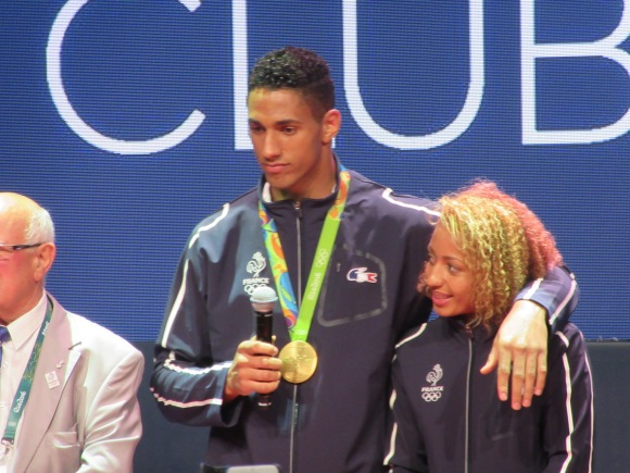 "Et le couple ""en or"" , Tony Yoka et Estelle Mossely"