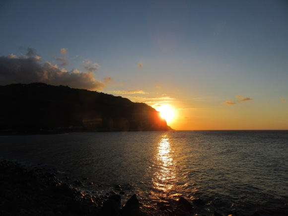 Coucher de soleil vu depuis le Barachois