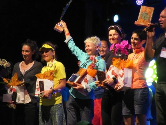 Le podium femmes, avec Andrea Huser en tête