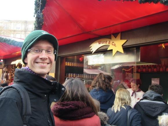 Le meilleur pour certains sur les marchés de Noël, ce sont les marchands de saucisse...