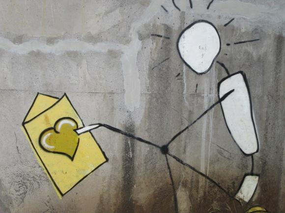 Street art en chemin
