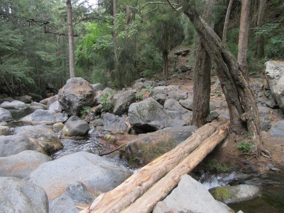 Le pont au fond de la ravine